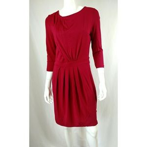 🌸Tart Dress Medium 3/4 Sleeve Maroon Career